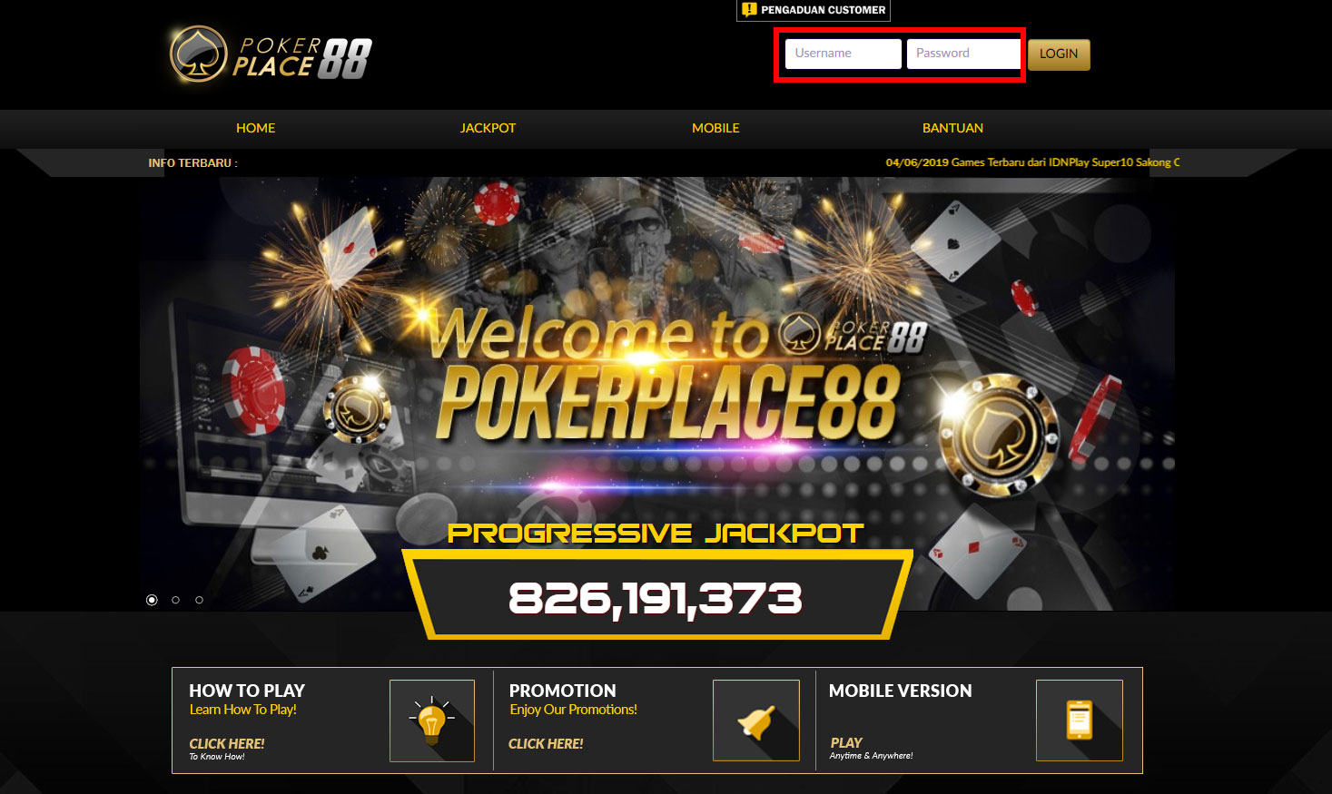 pokerplace88-login